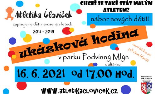 UKÁZKOVÁ HODINA PRO NOVÁČKY 16.6.2021